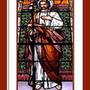 Saint Joseph  Stained Glass Window Print by Rose Santuci-Sofranko