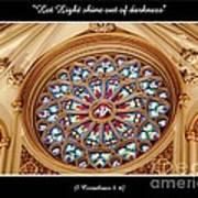 Saint Josephs Cathedral Stained Glass Window Buffalo New York Art Print
