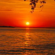 Saint Lawrence River Sunset IIi Art Print