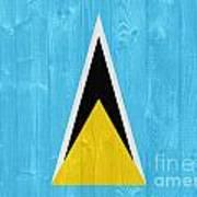 Saint Lucia Flag Art Print