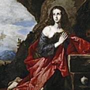 Saint Mary Magdalene In The Desert Art Print