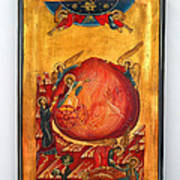 Saint Prophet Elias Hand Painted Russian Byzantine Icon  Art Print