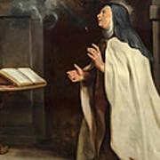 Saint Teresa Of Avila's Vision Of The Holy Spirit Art Print