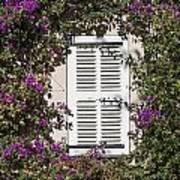 Saint Tropez Window Art Print