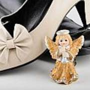 Saint Valentine Angel With Two Shoes Art Print