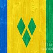 Saint Vincent And The Grenadines Flag Art Print