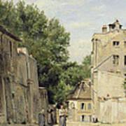 Saint-vincent Street, Montmartre Oil On Canvas Art Print