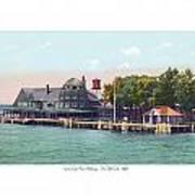 Sainte Claire Flats - Michigan - The Old Club - 1920 Art Print