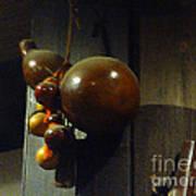 Sake Gourd Bottles From Japan On Corner Art Print