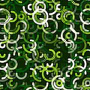 Salad Geometric Circle Segment Pattern Art Print