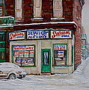 Salaison Ideale Montreal Art Print