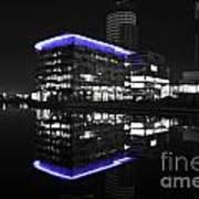 Salford Quay Reflection Art Print