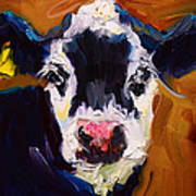 Salt And Pepper Cow 2 Art Print