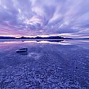 Salt Flats After Dark Art Print