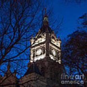 Salt Lake City And County Building At Night Art Print