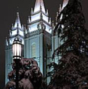 Salt Lake Temple In The Snow Art Print