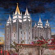 Salt Lake Temple Art Print by Jeff Brimley