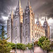 Salt Lake Temple Art Print by Niels Nielsen
