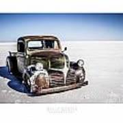 Salt Metal Pick Up Truck Print by Holly Martin