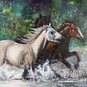 Salt River Horseplay Art Print