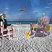 Sam And His Friend Visit Long Boat Key Art Print