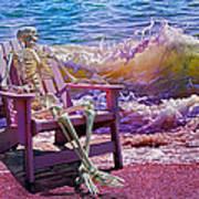 A-loon On The Beach  Art Print