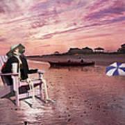 Sam Takes A Break From Kayaking Art Print