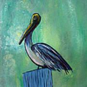 Sam The Pelican Art Print