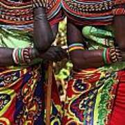 Samburu Women Dancing Kenya Art Print