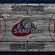Samford Bulldogs Art Print