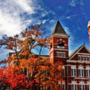 Samford Hall In The Fall Art Print by Victoria Lawrence