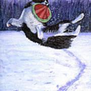 Sammy's Frisbee Jump Art Print