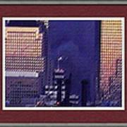 Sample Example Sunset On Ground Zero Art Print