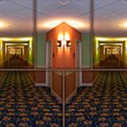 Sample Paneled Hallway Mirrored Image Art Print