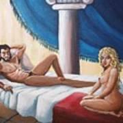 Samson And Delilah Art Print