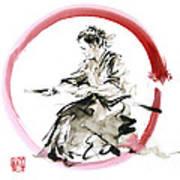 Samurai Enso Bushido Way. Art Print