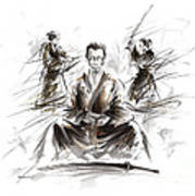 Samurai Meditation. Art Print