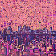 San Antonio Skyline Abstract 5 Art Print