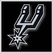 San Antonio Spurs Art Print by Tony Rubino