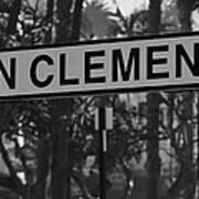 San Clemente Station Sign Art Print