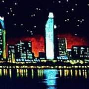 San Diego By Black Light Art Print