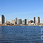 San Diego Ca Harbor Skyline Art Print