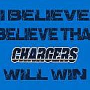 San Diego Chargers I Believe Art Print