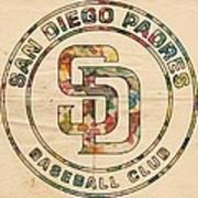San Diego Padres Logo Art Art Print
