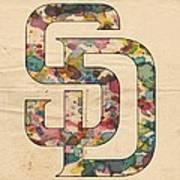 San Diego Padres Logo Vintage Art Print