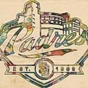 San Diego Padres Memorabilia Art Print
