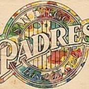 San Diego Padres Poster Art Art Print