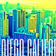 San Diego Postcard Art Print
