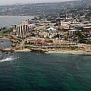 San Diego Shoreline From Above Art Print