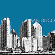 San Diego Skyline 1 - Steel Art Print